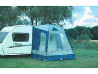 Quest Elite Instant Porch Awning - Blues and Grey in very good condition
