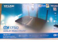 TP-LINK Archer D7 AC1750 Wireless Dual Band Gigabit ADSL2+ Modem Router