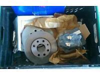 Vauxhall corsa front brake discs + pads