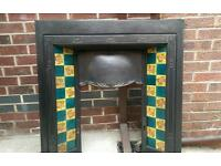 Original reclaimed cast iron victorian insert fire fireplace