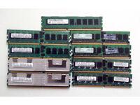 DDR3 and DDR2 ECC Server Ram, Memory, Job lot, HP, Dell, Compaq, 240pin, Server, Windows, linux, IT