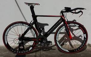 Rossetti Pantera! M/L. Sram Red 10s. Red Label Carbon Clinchers. Dulwich Hill Marrickville Area Preview