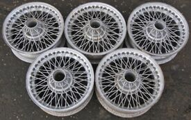 Lot Set 5 MGB GT 14-inch Wire Spoke Wheels