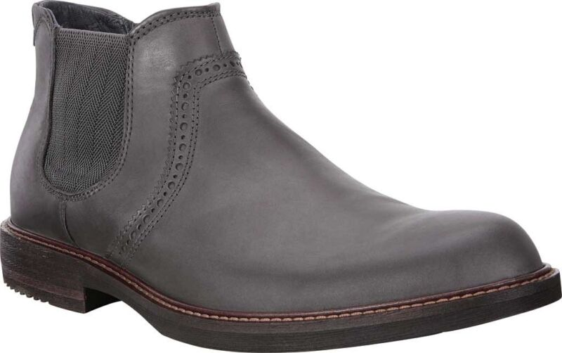 Details about ECCO Kenton Ankle Boot (Men's Shoes) Moonless Leather NEW