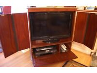 Yew TV Cabinet with Free Samsung TV