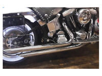 NEW Harley Davidson Exhausts Brand New Big Growl Straight Shooters Softail models 1986 – 2005.