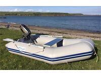 WaveLine WL230SS, 2HP Suzuki Engine & Lifejackets, Inflatable Boat Dinghy Tender