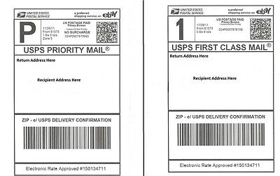 S 200 Shipping Postage Labels 2 Labels Per Page 8.5x5.5 Usps Fedex Paypal