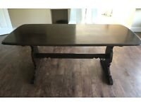 Edwardian Dining Table, Rounded Corners, Seats 6
