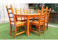 Dining Table & Set of Six Chairs For Sale