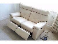 Quality leather sofa and armchair- Fully electrical reclined + free TRANSPORT !