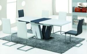 MODERN GLASS DINING TABLE - SHOP FOR BEST DEALS ON FURNITURE AT KITCHEN AND COUCH (BD-1194)