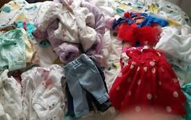 Large bundle of girls 0-3 clothes