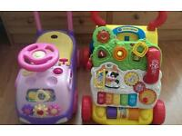 Ride on and vtech walker