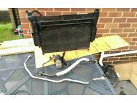 Bmw e46 air conditioning radiator and pipes