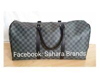 Black check lv Louis Vuitton shoulder gym bag duffle handbag £55 holdall