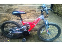 Kids Bike Apollo Awesome Red With Full Suspension