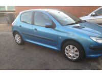 Lovely Peugeot 206 lx. Lady Owner low Milage long MoT Fully Serviced.