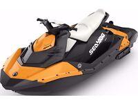 LESS THAN 10 HOURS Seadoo spark 3up orange jet ski Rotax 900 HO ACE & IBR with sports mode !