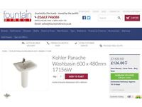 Washbasin & Pedestal £50 currently being sold for £126 + p&p online