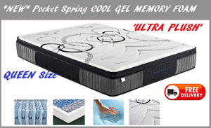 BRAND NEW Queen Size Bed Mattress Cool Gel Memory Foam DELIVERED New Farm Brisbane North East Preview