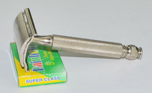 1955 Gillette Nickel Plated, Ball End Tech Razor, NICE VALUE, A-4