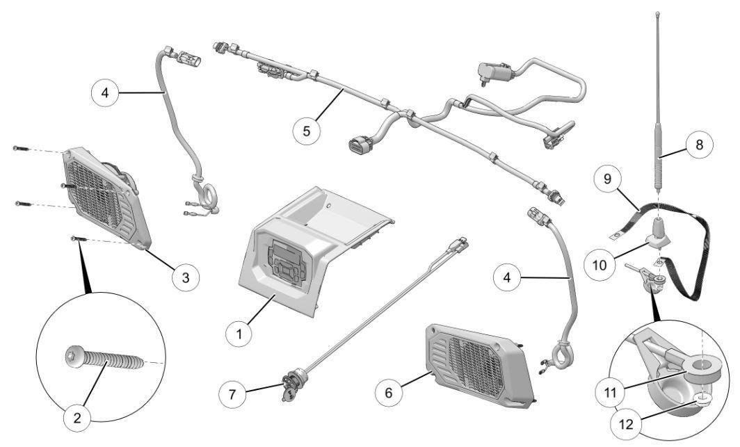 2018-2020 Polaris Ranger XP1000 1000 160 Watt Bluetooth