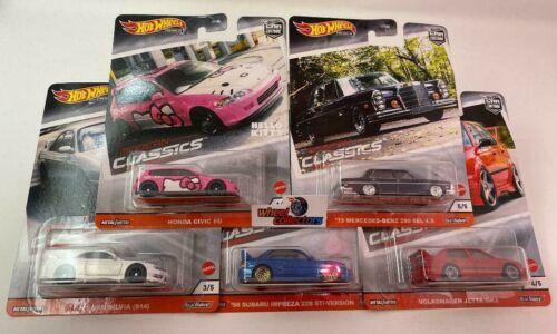 5 Car Set 2020 Modern Classics * 2020 Hot Wheels Car Culture Case S * IN STOCK