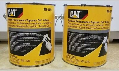 Genuine Oem Cat Yellow Two Gallons New Caterpillar Paint 458-9576 Implement