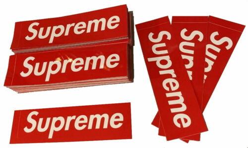 "SupremeRed Box Logo Sticker (x1)  | 100% Authentic | - 8"" x 2¼"""