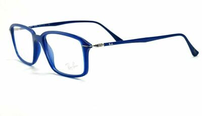 NEW RAY BAN LIGHTRAY MATTE BLUE AUTHENTIC EYEGLASSES RX RB 7019 5242 53-17 (Ray Ban Eyeglasses Blue)
