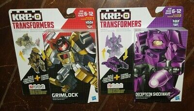 KRE-O Transformers Kreon Battle Changers: GRIMLOCK & SHOCKWAVE Building Toy!
