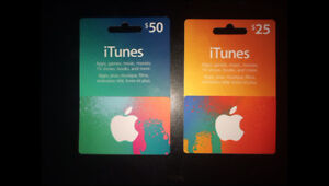 iTunes gift cards $75
