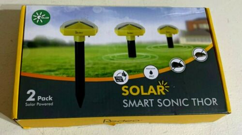 Rodeo Pack of 2 Solar Mole Repellent Sonic Spikes Mole Chaser Gopher Repellent