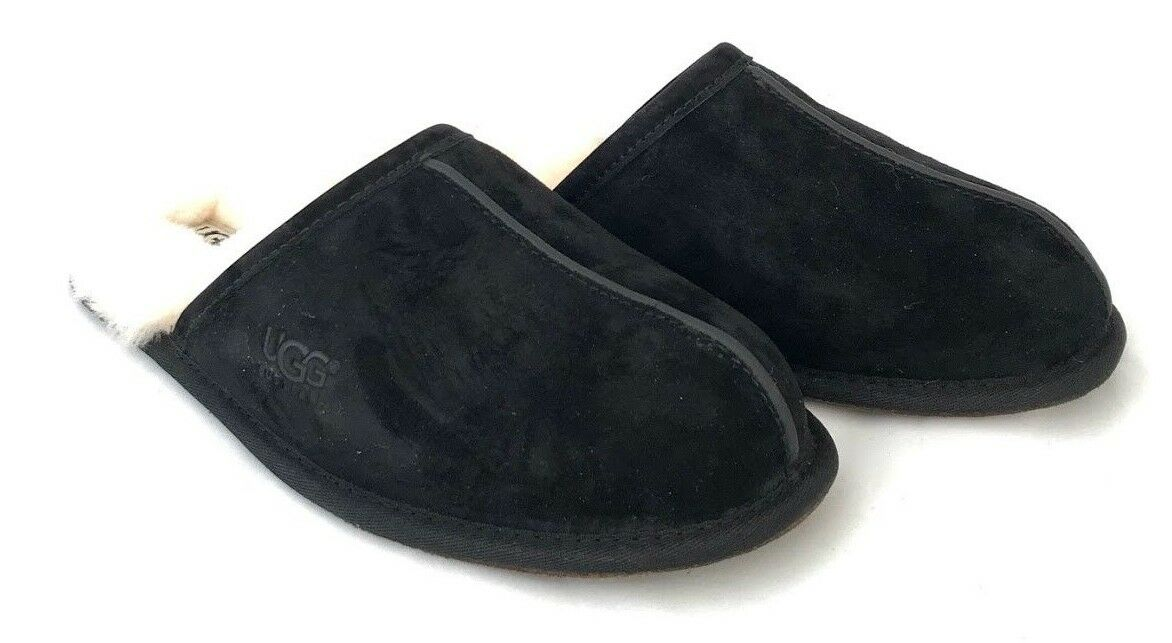 cabb79aa2320 Купить Ugg Mens Scuff Slippers Water Resistant Suede Black