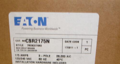 Challenger Westinghouse Cutler Hammer CSR2175N 175 Amp 25K Main Circuit Breaker