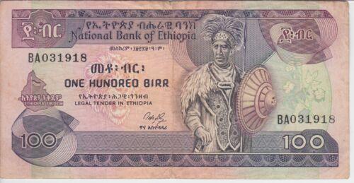 ETHIOPIA BANKNOTE P. 45a-1918 100 BIRR SIG 3, F-VF WE COMBINE