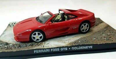 JAMES BOND CAR COLLECTION FERRARI F355 GTS GOLDENEYE DIE CAST 1:43 SCALE RED