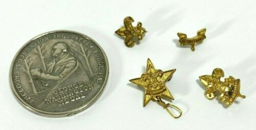 Lot BSA items - 4 pins & 1952 George Washington Medal - Get Out the Vote