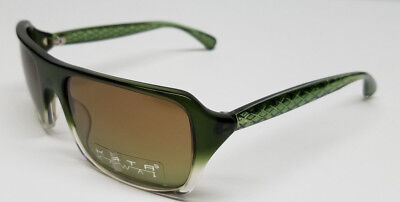 Green Designer Sunglasses - KATA KAWAI Grid 5 Designer Sunglasses Olive Green 54 19 130 New n Case $150 SALE
