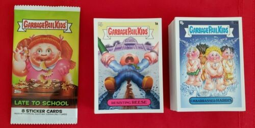 2019 GARBAGE PAIL KIDS LATE TO SCHOOL COMPLETE SET 200 CARDS + WRAPPER GPK
