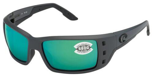 Costa Del Mar PERMIT Matte Gray Green Mirror Sunglasses 580G Glass PT 98 OGMGLP