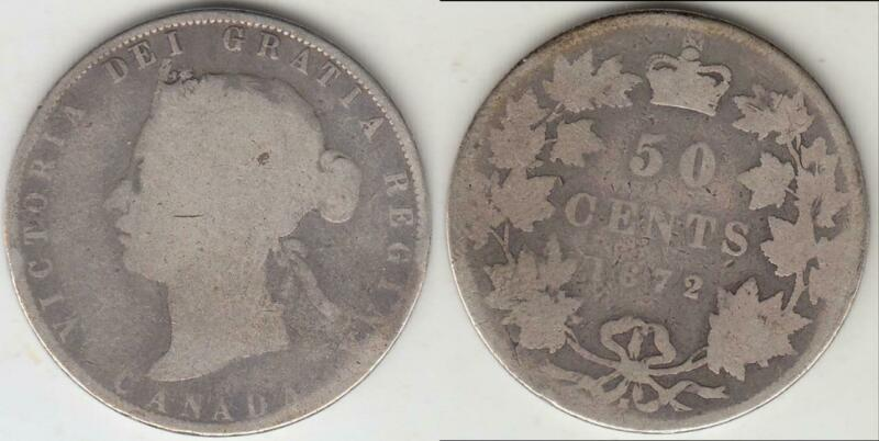 VICTORIA 1872-H CANADA FIFTY CENTS GOOD