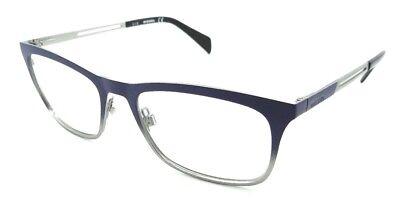 Diesel Rx Eyeglasses Frames DL5122 092 53-18-145 Matte Blue / Silver