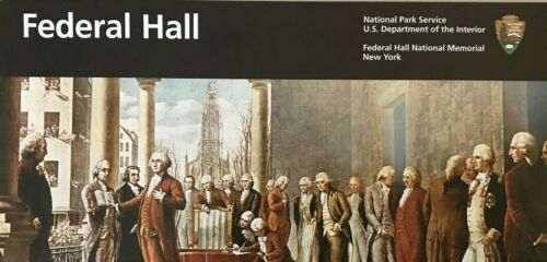 New 2019 FEDERAL HALL NM - New York  NATIONAL PARK SERVICE UNIGRID BROCHURE  Map