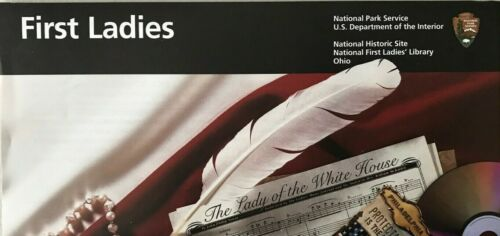 New 2019 FIRST LADIES NHS LIBRARY   NATIONAL PARK SERVICE UNIGRID BROCHURE  Map