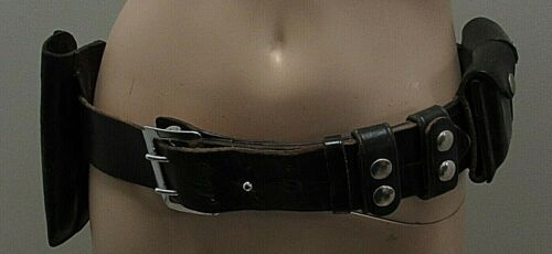Leather Police Service Duty Belt With Revolver Accessories Security 36""