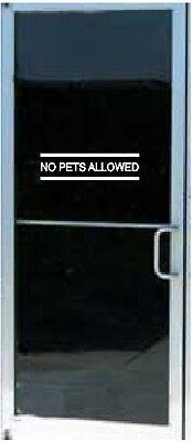 NO PETS ALLOWED Business Store Sign Vinyl Decal Sticker Door Window 3.7 x 14