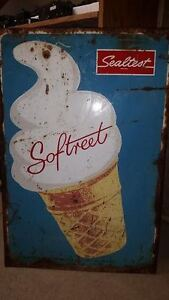 vintage sealtest softreet ice cream sign