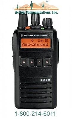 New Vertexstandard Evx-534 Enhanced Display Uhf 403-470 Mhz 5 Watt 512 Ch